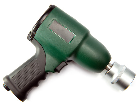 impact wrench: air impact wrench on white background Stock Photo