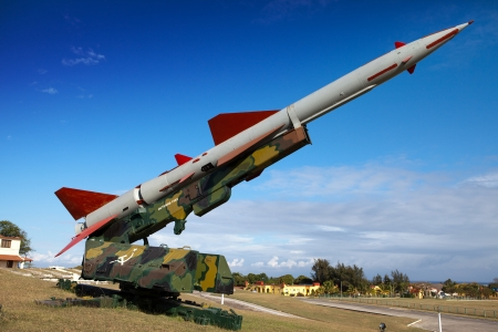 cabana: Cuba. Havana. Fortress Morro- Cabana. The exhibition of the Soviet weapon devoted to memory of the Caribbean Crisis (Cuban missile crisis)