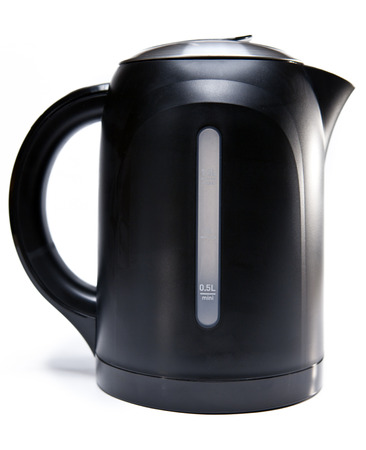 electric tea kettle on a white background    photo