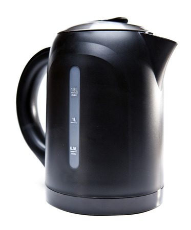 electric tea kettle: electric tea kettle on a white background