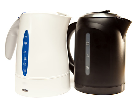 two electric tea kettle on a white background    photo
