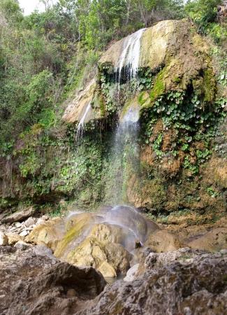 soroa: The waterfall at park of Soroa, a famous natural and touristic landmark in Cuba