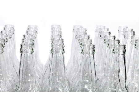 Empty glass bottles photo