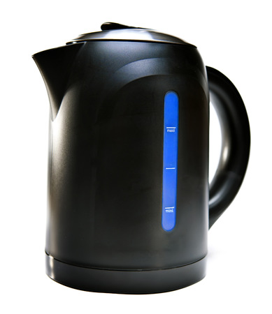electric tea kettle:  new electric tea kettle  Stock Photo