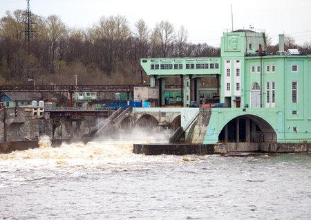 volkhov: Volkhov HYDROELECTRIC POWER station-hydro power station on river Volkhov, Russia Editorial