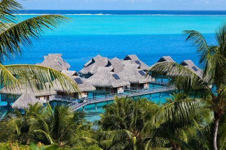 borabora: Azure lagoon of island BoraBora, Polynesia.