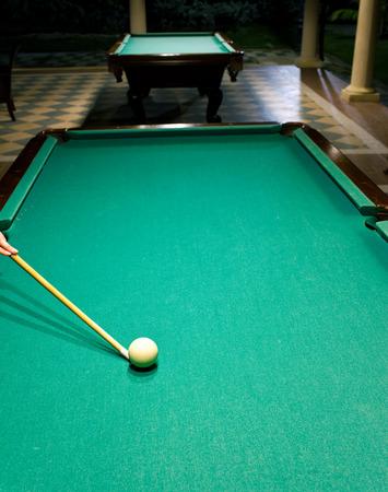 snooker rooms: Billiard table