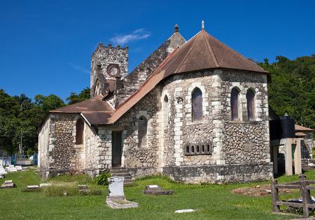cemetry: Ancient colonial church. Jamaica