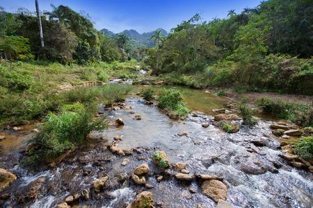 soroa: The river in park Soroa. Cuba.