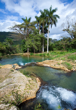 soroa: The river with stages in park of Soroa. Cuba. Stock Photo