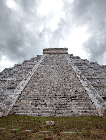 kukulkan: Kukulkan Pyramid in Chichen Itza on the Yucatan, Mexico Stock Photo