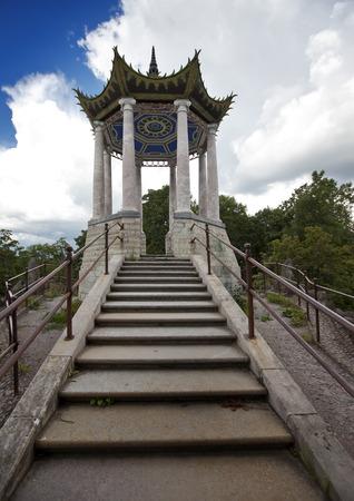 pilaster: Catherine Park. Pushkin (Tsarskoye Selo). Petersburg. Pavilion in the Chinese style.