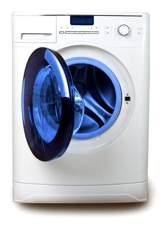 The washing machine on a white  Stock Photo