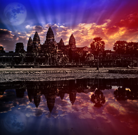 Angkor wat sunrise, Siem reap,Cambodia, was inscribed on the UNESCO World Heritage List in 1992. Elements of this image furnished by NASA. photo