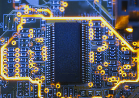 microchip: Electronic microcircuit and microchip