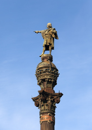Spain. Barcelona. Monument of Columbus photo