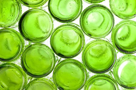 bottoms: Bottoms of empty glass bottles Stock Photo