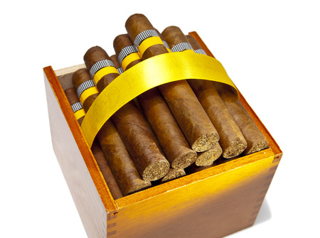 hand made: The Cuban cigars, hand made Stock Photo