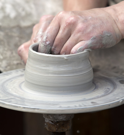 potter: The potter during a jug molding