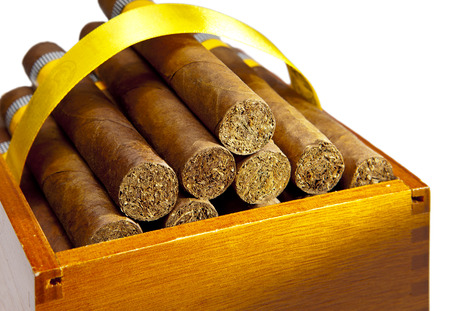 made by hand: The Cuban cigars, hand made Stock Photo