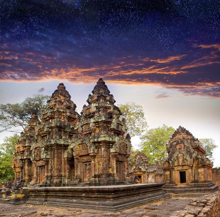 siem reap: Banteay Srey before sunrise, Siem Reap, Cambodia