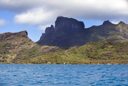 polynesia: Bora Bora, Polynesia. Mountains, the sea, palm trees