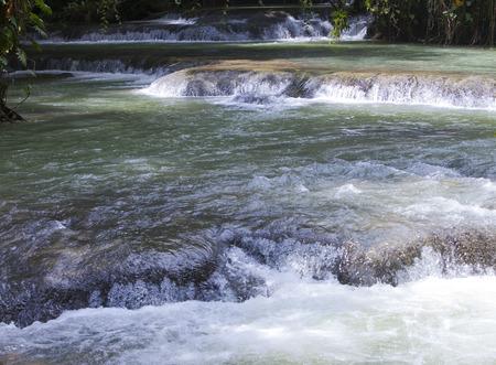 Jamaica. Dunn's River waterfalls