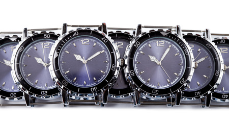 wrist: Wrist watches with several dials Stock Photo