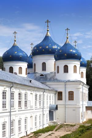 exaltation: Russian orthodox Yuriev Monastery, Church of Exaltation of the Cross, Great Novgorod, Russia