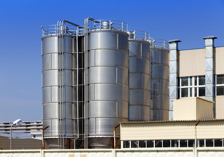 polymerization: The chemical factory. Russia. Stock Photo
