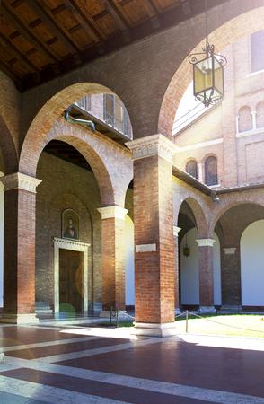 basilica: Rome, Italy. Basilica courtyard