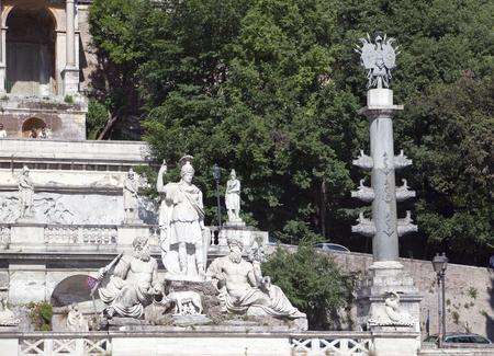 piazza: Rome. Italy. Piazza del Popolo