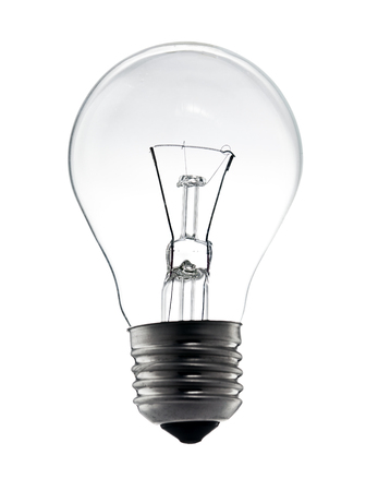 electric bulb: electric light bulb on a white background