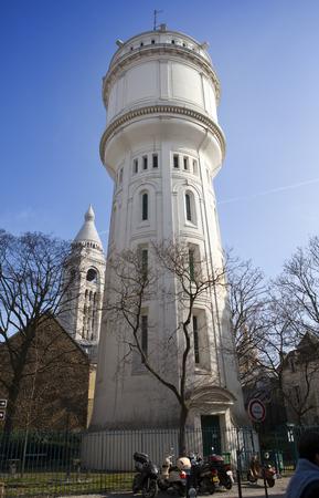 wody wieży: Montmartre water tower, Paris, France