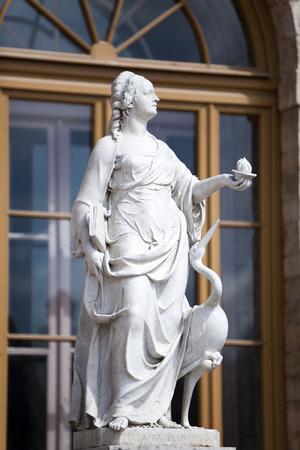vigilance: statue Vigilance (caution), Palace and park complex Gatchina, St. Petersburg, Russia, XVIII century Stock Photo