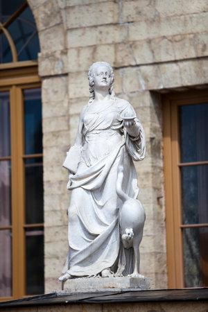vigilance: statue Vigilance (caution), Palace and park complex Gatchina, St. Petersburg, Russia, XVIII century Editorial