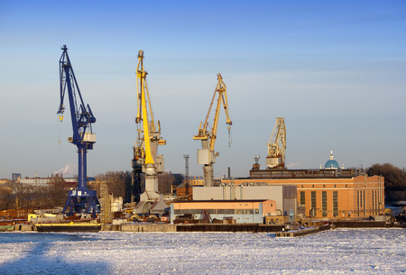 seaport: St. Petersburg. Seaport. Russia.