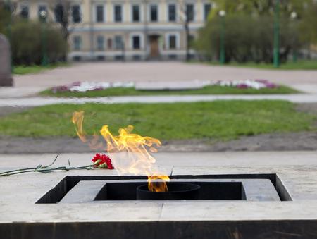 eternal: Russia. St. Petersburg. Field of Mars. Eternal flame