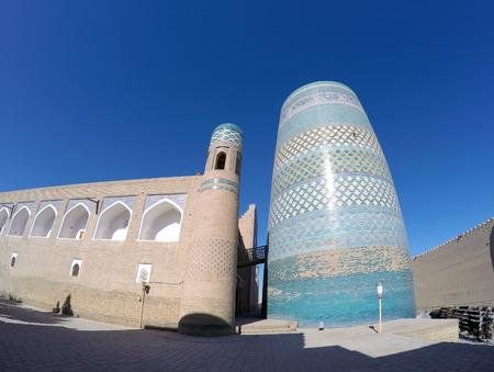 minor: unfinished Kalta Minor Minaret. Khiva, Uzbekistan Stock Photo
