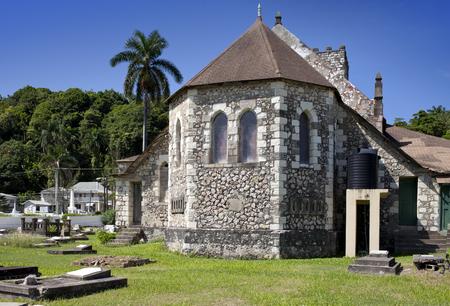 colonial church: Ancient colonial church. Jamaica