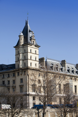 tribunal: Historical building of Criminal court (Criminal investigation department -Tribunal correctionnel) in Paris, (where the hero of books commissioner Megre worked)