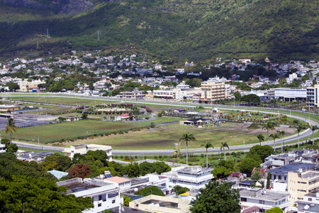 towerblock: Observation deck in the Fort Adelaide on the Port-Louis- capital of Mauritius
