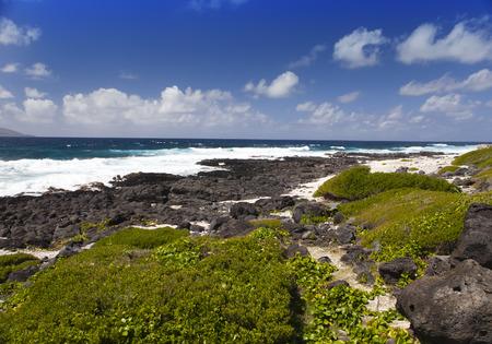 gabriel: Mauritius. Stony landscape of the island Gabriel.