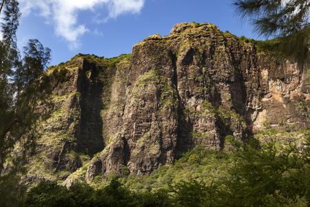 morne: Le Morne Brabant mountain on the south of Mauritius