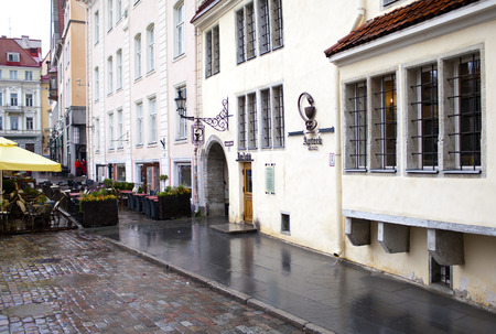 15th century: Building of an ancient drugstore, 15th century. Tallinn.