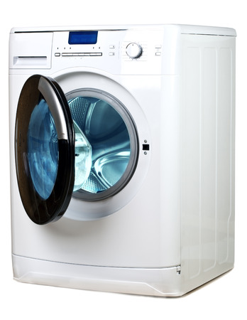 capacious: The washing machine on a white background