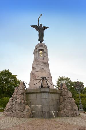 sacral symbol: Monument to crew of the sunk Russian battleship Mermaid in Tallinn, Estonia. Monument sculpted by Amandus Adamson, erected on 1902 in Kadriorg