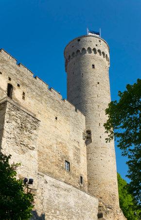 herman: Tall Hermann - a tower of the Toompea Castle on Toompea hill. Tallinn, Estonia