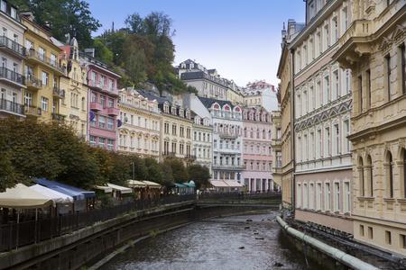 carlsbad: Karlovy Vary (Carlsbad), Tepla river.  Czech Republic.