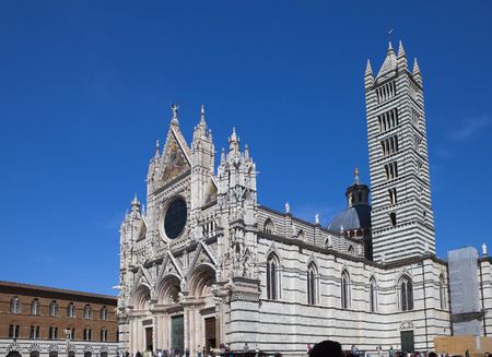 Siena cathedral in a sunny day, Tuscany, Italy. Stock Photo